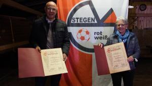 Ehrungen/ Andrea Scherer und Bernd Gänswein wurden zu Ehrenmitgliedern ernannt